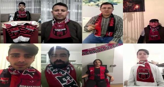 """YOZGATSPOR TARAFTARLARINDAN """"EVDEKAL"""" VİDEOSU"""