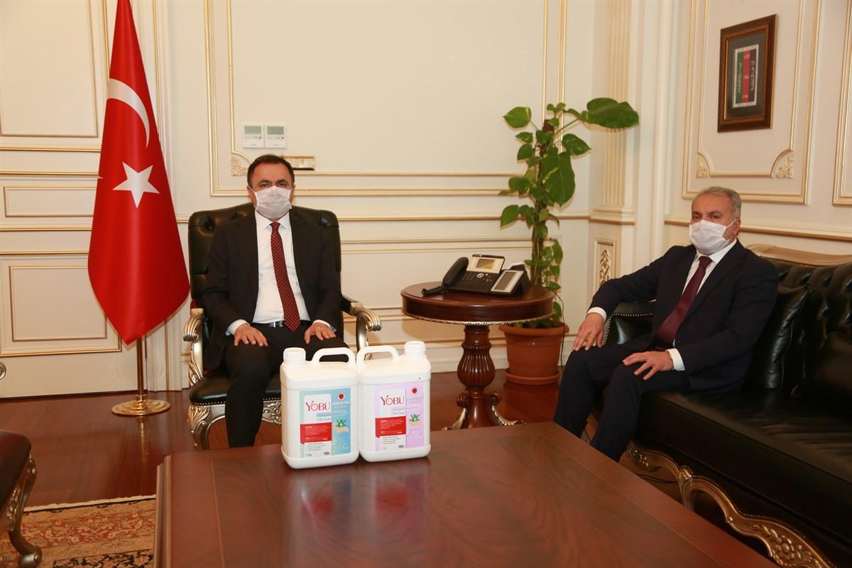 REKTÖR'DEN YOZGAT VALİSİNE 'SABUN' TANITIM ZİYARETİ