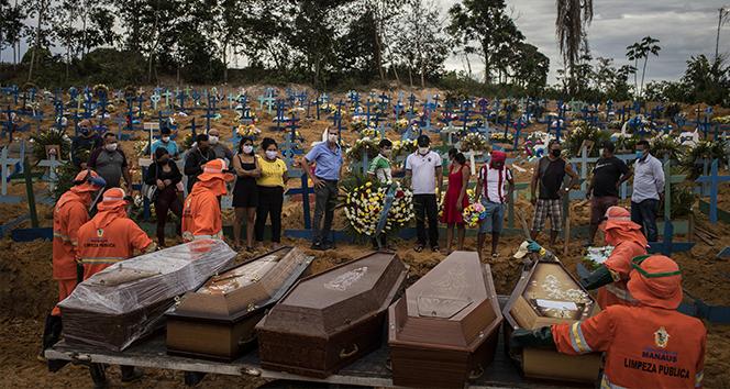 Brezilya, 24 saatte bin 262 korona sonucu ölümle rekor kırdı