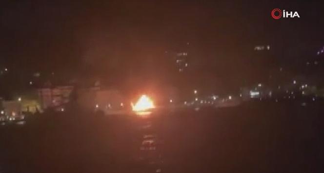 İstanbul'da korkutan tekne yangını!