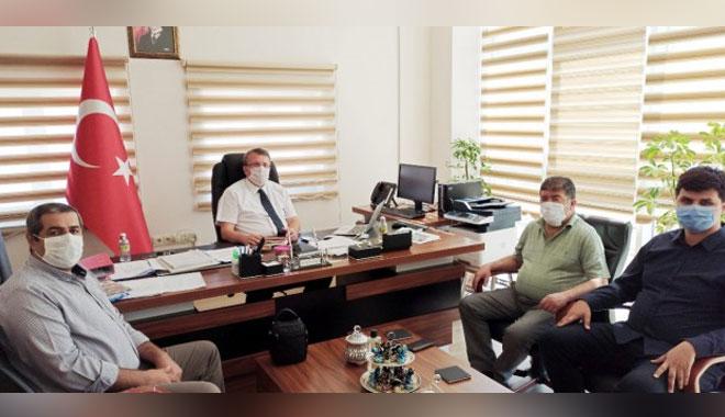 YTO BAŞKANI ERKEKLİDEN REKTÖR YARDIMCISINA 'İŞBİRLİĞİ' ZİYARETİ