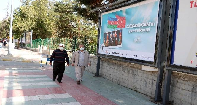 YOZGAT BELEDİYESİNDEN AZERBEYCANA AFİŞLİ DESTEK